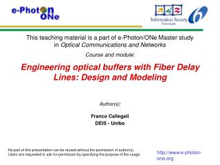 Engineering optical buffers with Fiber Delay Lines: Design and Modeling