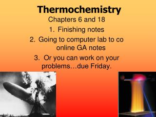 Thermochemistry