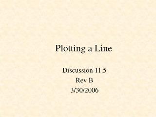 Plotting a Line