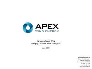 Apex Wind Energy, Inc.
