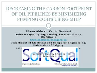 DECREASING THE CARBON FOOTPRINT OF OIL PIPELINES BY MINIMIZING PUMPING COSTS USING MILP