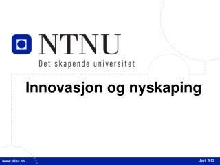 Innovasjon og nyskaping