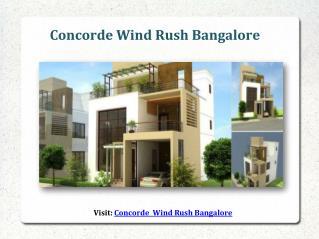Concorde Wind Rush New Project Bangalore