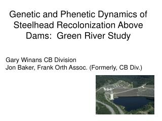 Genetic and Phenetic Dynamics of Steelhead Recolonization Above Dams:  Green River Study
