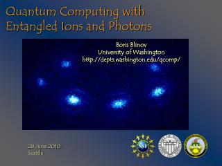 Quantum Computing with Entangled Ions and Photons