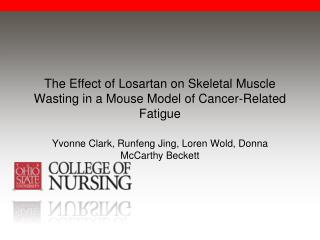 The Effect of Losartan on Skeletal Muscle Wasting in a Mouse Model of Cancer-Related Fatigue