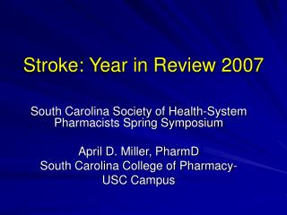 Stroke: Year in Review 2007