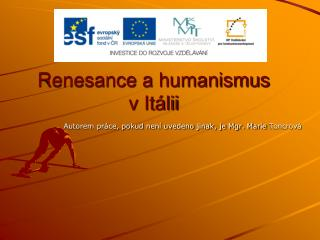 Renesance a humanismus  v It�lii