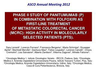 ASCO Annual Meeting 2012
