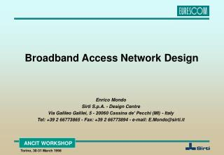 Broadband Access Network Design
