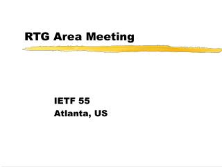 RTG Area Meeting