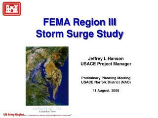 FEMA Region III  Storm Surge Study