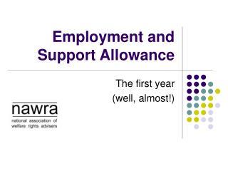 Employment and Support Allowance