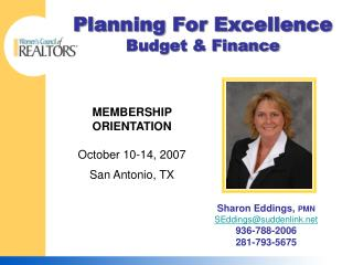 Planning For Excellence Budget & Finance