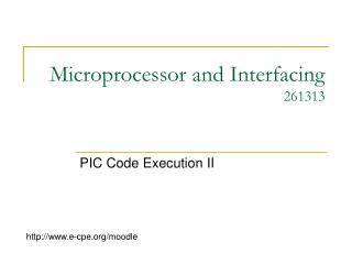 Microprocessor and Interfacing 261313