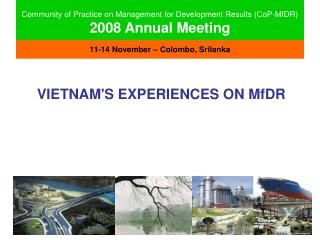 Community of Practice on Management for Development Results (CoP-MfDR) 2008 Annual Meeting