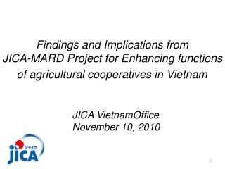 Findings and Implications from  JICA-MARD Project for Enhancing functions