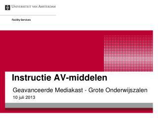 Instructie AV-middelen