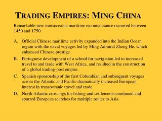 Trading Empires: Ming China