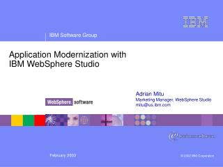Application Modernization with IBM WebSphere Studio