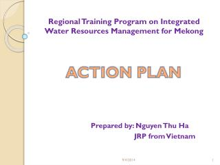 Regional Training Program on Integrated Water Resources Management for Mekong