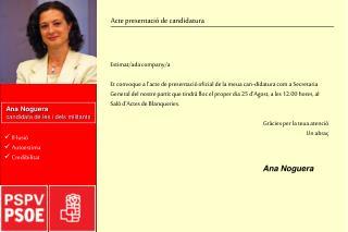 Ana Noguera candidata de les i dels militants