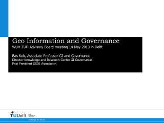 Geo  Information  and Governance