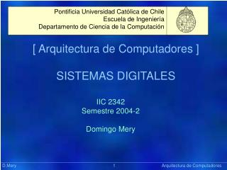 [ Arquitectura de Computadores ] SISTEMAS DIGITALES