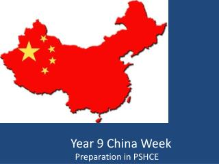 Year 9 China Week