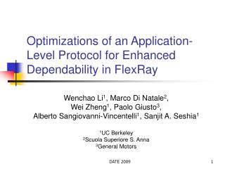 Optimizations of an Application-Level Protocol for Enhanced Dependability in FlexRay