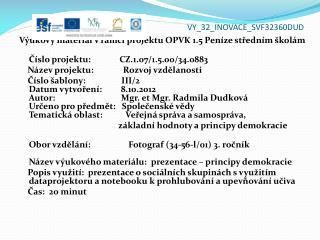 VY_32_INOVACE_ SVF32360DUD
