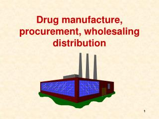 Drug manufacture, procurement, wholesaling distribution