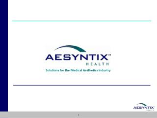 Solutions for the Medical Aesthetics Industry