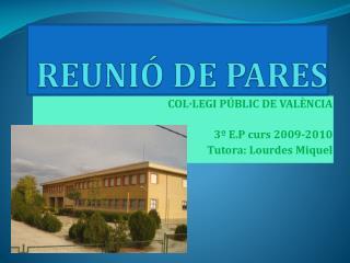 REUNIÓ DE PARES