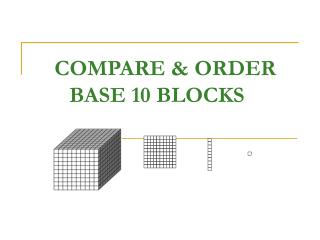COMPARE & ORDER BASE 10 BLOCKS