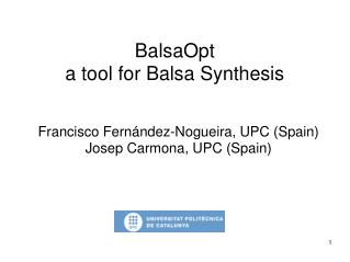 BalsaOpt  a tool for Balsa Synthesis