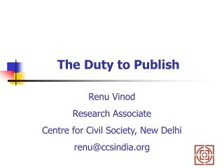 The Duty to Publish