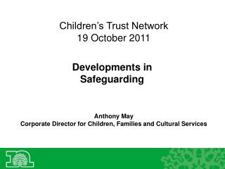 Children's Trust Network 19 October 2011