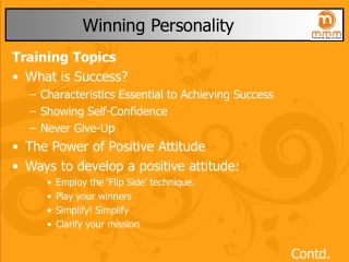 Developing a Pleasing Personality