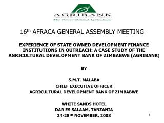 16th AFRACA GENERAL ASSEMBLY MEETING