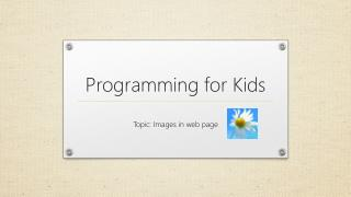 Programming for Kids