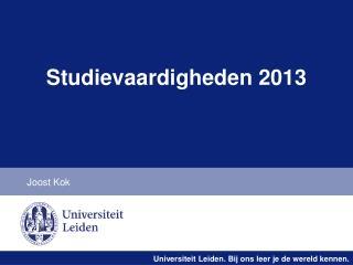 Studievaardigheden 2013