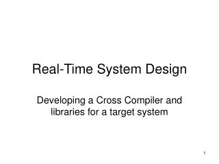 Real-Time System Design