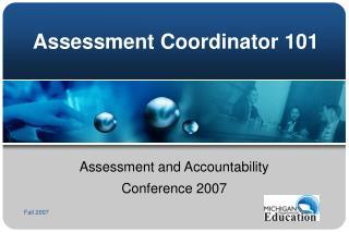 Assessment Coordinator 101