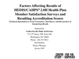 Factors Affecting Results of HEDIS