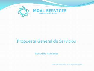 Propuesta General de Servicios  Recursos Humanos