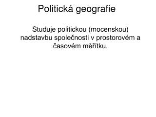 Politická geografie