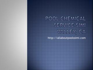 pool maintenance Simi Valley, CA