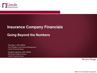 Insurance Company Financials Going Beyond the Numbers