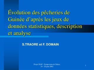 Évolution des pêcheries de Guinée d'après les jeux de données statistiques, description et analyse